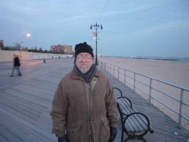 Dad on boardwalk