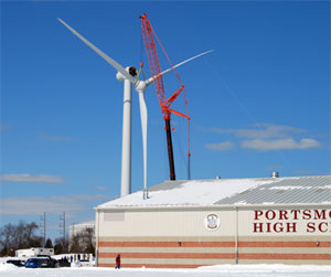 Town of Portsmouth Wind Turbine Project | Planet-TECH Associates